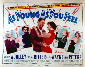 """""""As Young As You Feekl""""Movie poster1951 / 20th Century Fox - Image 0758_0380"""
