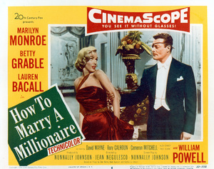 """""""How To Marry A Millionaire""""Movie Poster1953 / 20th Century Fox - Image 0758_0383"""