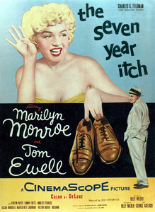 """Seven Year Itch, The"" Movie PosterMarilyn Monroe, Tom Ewell1955 / 20th Century Fox - Image 0758_0386"