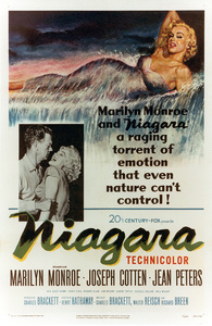 """Niagara"" Movie PosterJoseph Cotten, Marilyn Monroe1953 / 20th Century Fox - Image 0758_0388"
