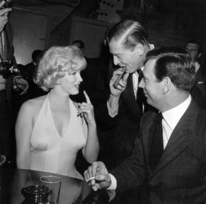 """Marilyn Monroe, Milton Berle, Yves Montandat a party for """"Let"""