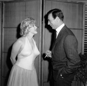 """Marilyn Monroe, Yves MontandAt a party for """"Let"""