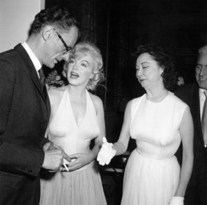 """Marilyn Monroe, Arthur Miller, Dorothy KilgallenAt party for """"Let"""