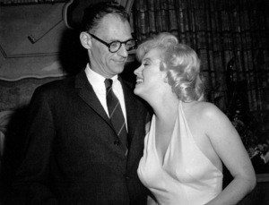 "Marilyn Monroe and Arthur Millerat a party for ""Let"
