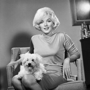 Marilyn Monroe with pet Maf Honey at the Beverly Hills Hotel 1961 © 1978 Eric Skipsey