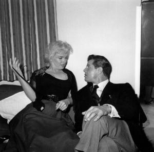 Marilyn Monroe at a celebrationparty for Sammy Davis Jr.