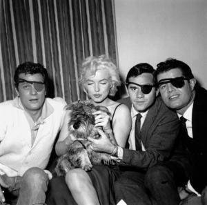 Tony Curtis, Marilyn and Milton Greenecelebrating Sammy Davis Jr.