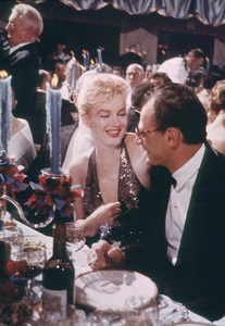 """Marilyn Monroe and Arthur Miller at the""""April in Paris"""" Ball at the Waldorf Astoria in1957/ **MP - Image 0758_0625"""