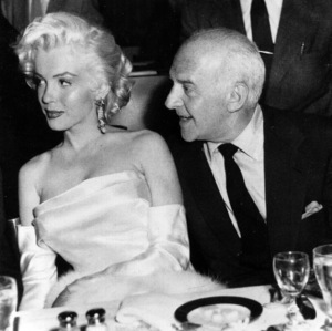 Marilyn Monroe with Walter Winchell celebrating Walter
