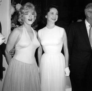 "Marilyn Monroe & Dorothy Kilgallenat a party for ""Let"