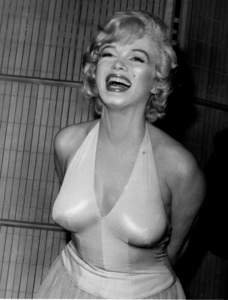 "Marilyn Monroe at a press party for""Let"