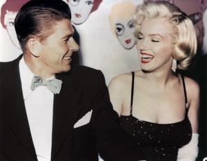 Marilyn Monroe with Ronald Reagan at Charlton Heston
