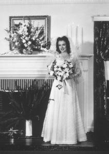 Marilyn Monroe at her weddingin Los Angeles to Jim DoughertyJune 1942.  Photo by Axel Fogg - Image 0758_0872