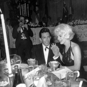 Marilyn MonroeWith Jose Bolanos a screenwriter she met in Mexico,and then brought back to Los Angeles as an escortto The Golden Globe Awards in 1962 © 1978 Joe Shere - Image 0758_0986