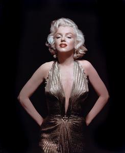 "Marilyn Monroein gold lame Travilla gown from ""Gentlemen Prefer Blondes""1953Photo by Gene Kornman** I.V. - Image 0758_0993"