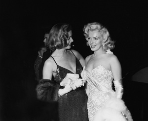 "Lauren Bacall and Marilyn Monroe at the premiere of ""How to Marry a Millionaire""circa 1953** I.V. - Image 0758_1063"