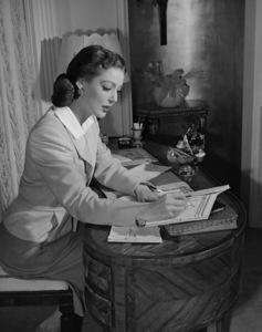 Loretta Youngat homeC. 1942 - Image 0759_0165