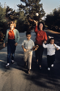 Shirley Temple with children Susan, Charlie and Lori 1960 © 1978 Bob Willoughby - Image 0763_0320