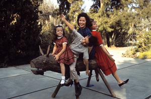 Shirley Temple with children Lori, Charlie and Susan 1960 © 1978 Bob Willoughby - Image 0763_0325