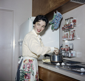 Shirley Temple at her home in Atherton, California1956Photo by Gerald Smith - Image 0763_0593
