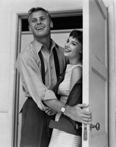 """Tab Hunter with Natalie Wood for""""The Girl He Left Behind"""", 1956. - Image 0764_0057"""