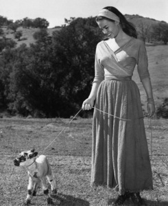 """Natalie Wood on location for""""The Burning Hills,"""" 1956.Photo by Jack Woods - Image 0764_0145"""