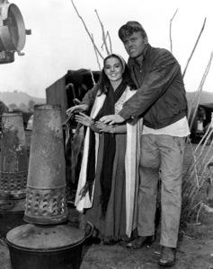 "Natalie Wood and Tab Hunteron the set of ""The Burning Hills,""c. 1956. - Image 0764_0147"