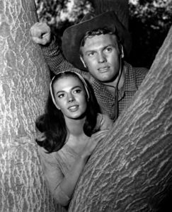 """Natalie Wood with Tab Hunterfor """"The Burning Hills,"""" c. 1956.Photo by Jack Woods - Image 0764_0148"""