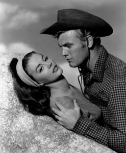 """Natalie Wood with Tab Hunterfor """"The Burning Hills,"""" c. 1956.Photo by Bert Six - Image 0764_0149"""