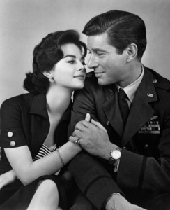 "Natalie Wood and Efrem Zimbalist Jr.in ""Bombers B-52,"" 1957.Photo by Bert Six - Image 0764_0163"