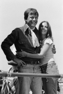 Natalie Wood and Robert Wagner before their second wedding aboard the Ramblin