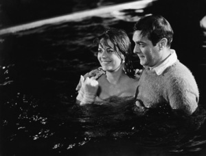 """Natalie Wood and Tony Curtis on the set of """"Sex and the Single Girl""""1964© 1978 Chester Maydole - Image 0764_0460"""