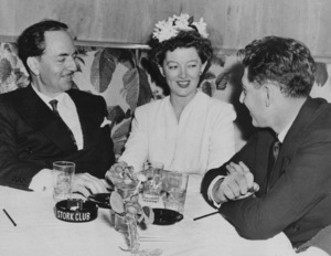 Myrna Loywith her husband John Hertz Jr. and William Powell at the Stork Club in New YorkSeptember 25, 1942MPTV - Image 0771_0592
