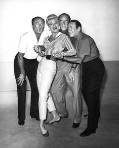 """Ginger Rogers Special""Ginger Rogers and the Ritz Brothers (Al, Harry and Jimmy) 1958Photo by Gabi Rona - Image 0772_2284"