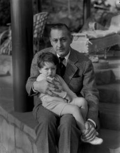 John Barrymorewith his son John Drew Barrymore at HomeCirca 1931**I.V. - Image 0801_0821