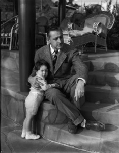 John Barrymore with his son, John Drew Barrymorecirca 1933** I.V. - Image 0801_0839