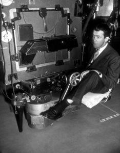"""James Stewart behind the scenesof """"Rope,"""" 1948.Photo by Jack Albin - Image 0802_0914"""