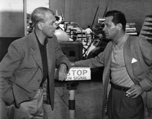 James Stewart and William Holden meet on the Warner Brothers lot1957 - Image 0802_0922