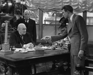 """James Stewart, Lionel Barrymore and Frank Hagney in a scene from """"It"""
