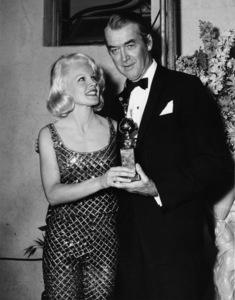 James Stewart and Carroll Baker at the Golden Globe Award dinnercirca 1960s - Image 0802_2003