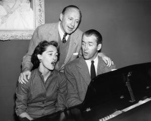James Stewart with wife Gloria and Jack Bennycirca 1950sPhoto by Gabi Rona - Image 0802_2017