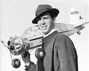 James Stewartwith model airplane, 1939.Copyright John Swope Trust / MPTV - Image 0802_2141
