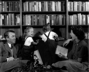 James Stewart with his wife Gloria, and their two daughters, Kelly and Judycirca 1955© John Swope Trust  - Image 0802_2150
