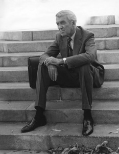 James Stewart on the steps of the U.C.L.A. Law School buildingcirca 1973Photo by Wynn Hammer - Image 0802_2178