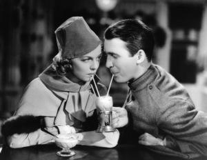 """James Stewart and Margaret Sullavan during the making of """"The Shopworn Angel""""1938** I.V. - Image 0802_2179"""