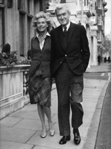 James Stewart with his wife Gloria, in London