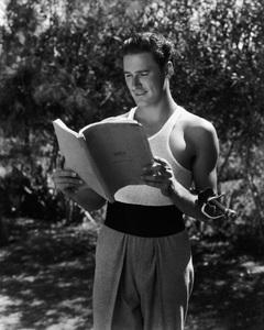 "Errol Flynn reading the script for ""Captain Blood""circa 1935** I.V. - Image 0803_1039"