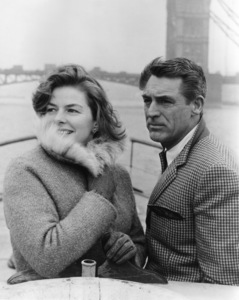 """Cary Grant and Ingrid Bergman on location in England to film """"Indiscreet""""1958 - Image 0807_0003"""