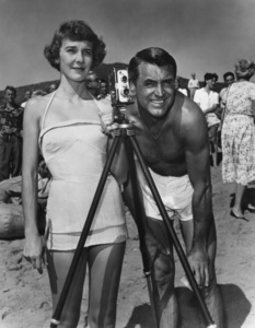 "Cary Grant and Betsy Drake during the filming of ""Room for One More""1952Photo by Jack Albin - Image 0807_0011"