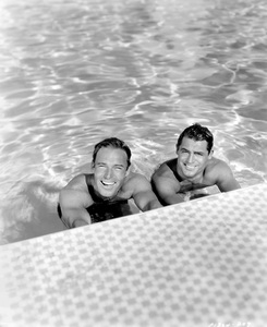 Cary Grant and Randolph Scott (best friends and roommates), HOME LAYOUT, 1935, Paramount, I.V. - Image 0807_2058
